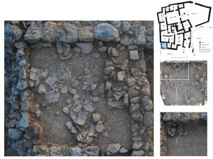 Fig.4: Room 4.15 – excavation stages.